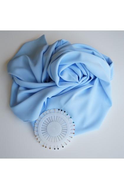 Hijab soie de médine bleu...