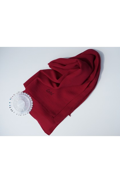 Hijab jazz rouge rubis nacré