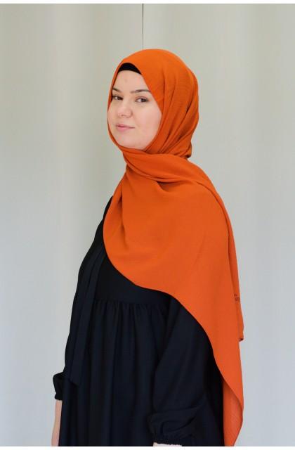 hijab jazz premium rouille